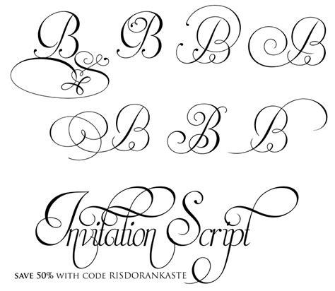 Wedding Font Capital by An Wedding Quot Invitation Script Quot Font At 50
