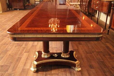 large dining room tables large high end mahogany dining table antique reproduction