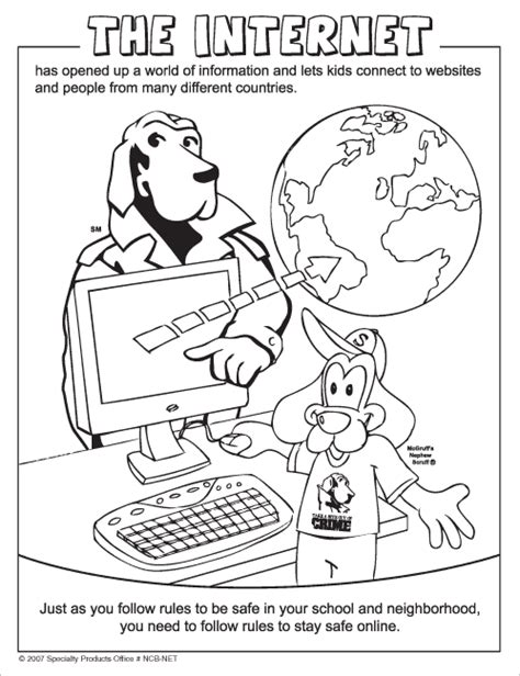internet safety coloring page coloring home
