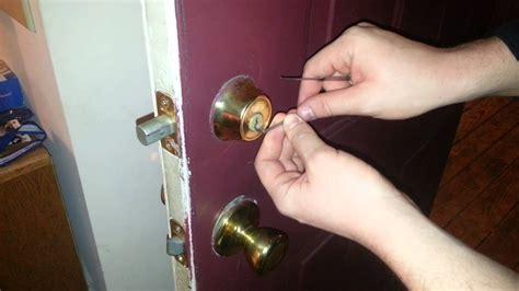 pick  front door lock deadbolt easy youtube