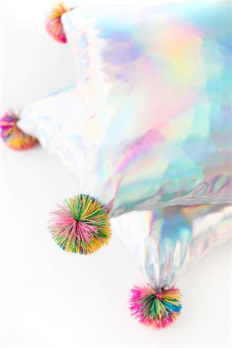 rainbow shine iridescent and holographic decor