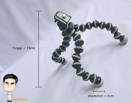 Gorilla Pod Hp tripod fleksibel mini tinggi 15 cm diameter 1cm berat 60gr