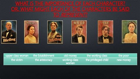 themes and characters in an inspector calls an inspector calls character and theme revision