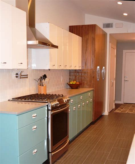 steel cabinets kitchen sam has a great experience with powder coating her vintage steel kitchen cabinets retro renovation