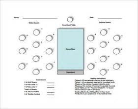 table chart template table seating chart template 14 free sle exle
