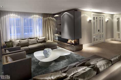 nowoczesny layout nowoczesny salon z kominkiem architektura wnętrza