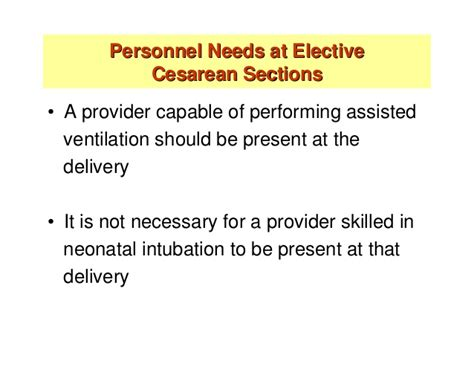 elective primary cesarean section nrp 2010
