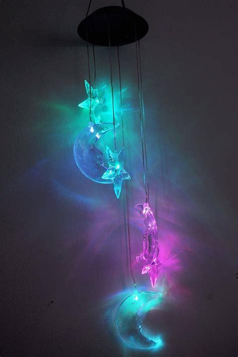 solar led night light glow rainbow stars moons