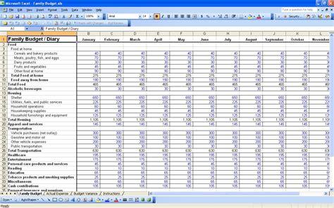 personal budget spreadsheet excel spreadsheet