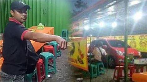 viral foto mobil merah parkir seenaknya   warung