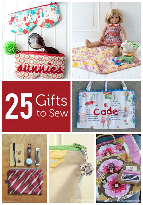 sew gifts 25 gifts to sew the polka dot chair