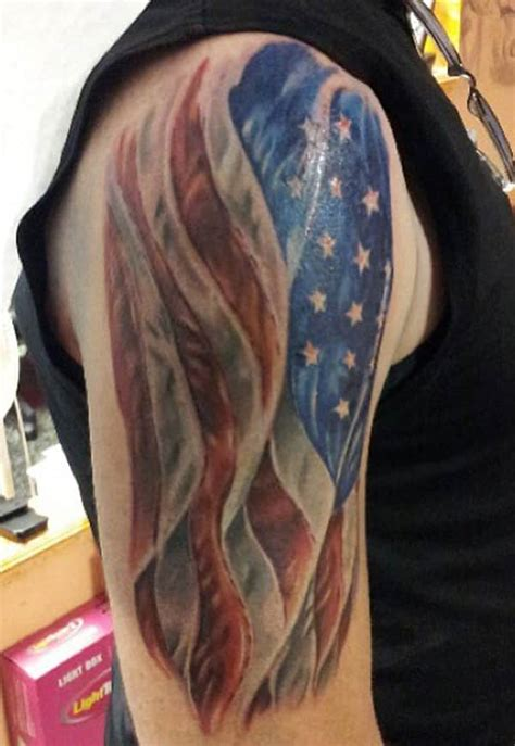 patriotic half sleeve tattoo designs american flag tattoos for ideas and designs for guys