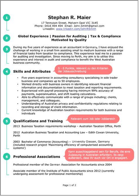 Examples Of A Resume For A Job by Wie Schreibt Man Einen Australischen Lebenslauf