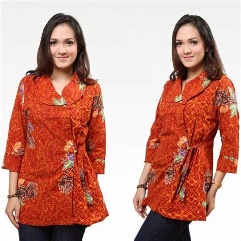 Baju Hem Panjang Remaja 22 model kemeja batik wanita lengan panjang modern terbaru elegantria