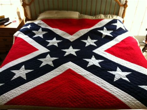 Confederate Flag Quilt by Pattern For Confederate Flag King Quilt By Lindabartlett