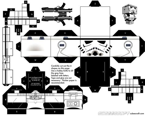 Wars Papercraft Templates - build your own cubecraft stormtrooper wars the