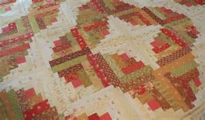 quilting on curved log cabin