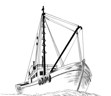 how to draw a boat from the front jed alexander drawing a fishing boat how do you draw a