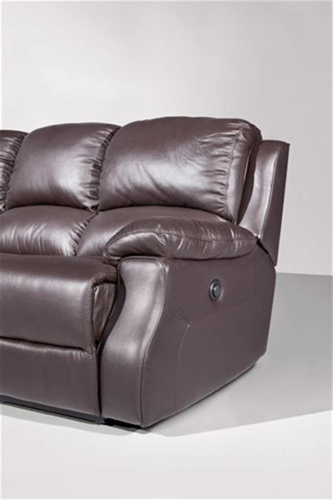 Leather Corner Sofa With Recliner by Esprit Leather Corner Sofa With Recliner And Sofabed Brown