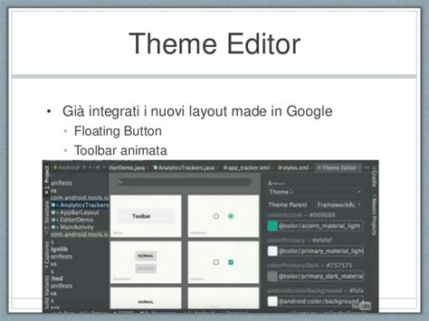 theme editor in android studio google i o 2015 novit 224 per android studio