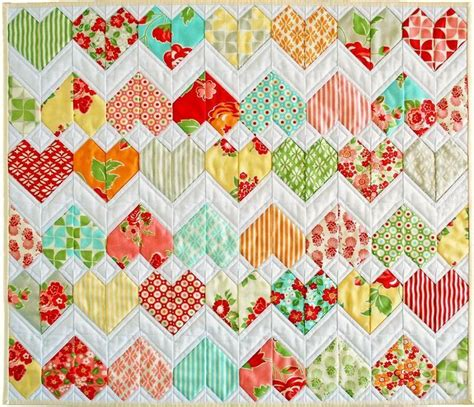 zig zag heart quilt pattern pin by beth schuster on quilts pinterest