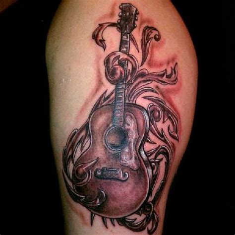 acoustic guitar tattoos 60 inspirational guitar tattoos nenuno creative