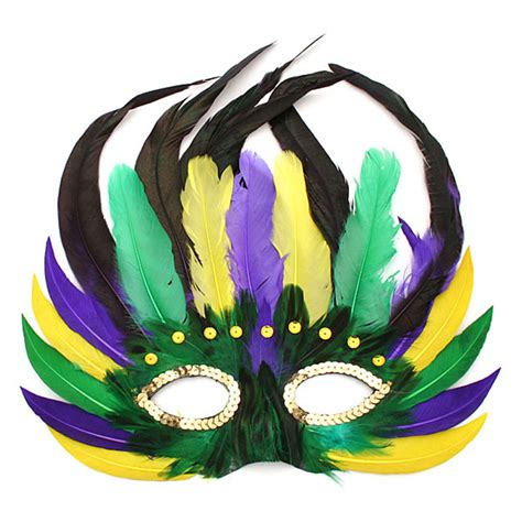 Beautiful Decorations For Your Home by Feathered Mardi Gras Mask