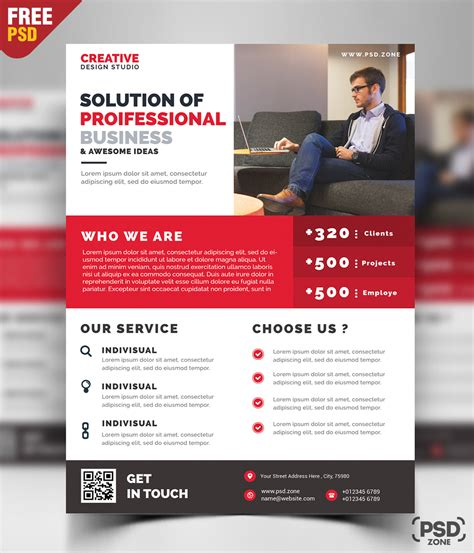 photoshop templates for business flyers business promotion flyer psd template psd zone