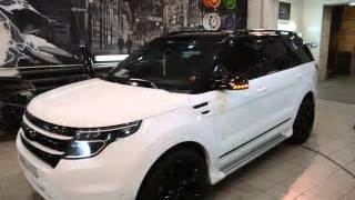blacked out 2015 ford explorer halo lights