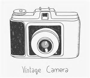 Merry Christmas Wall Sticker hand drawn vintage camera vector free vector graphic
