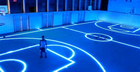 glow in the paint nbs basketball court in germany hoopsallday