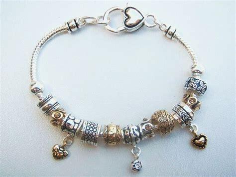 beaded charm bracelets pandora inspired charm bead bracelet vintage