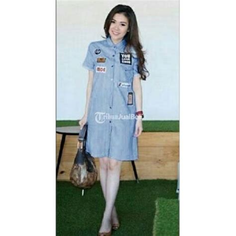 Baju Import Baju Murah Baju Fashion A31033 Dress baju wanita korea import dress rica murah denim terbaru