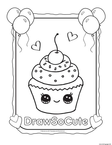 draw coloring book cupcake draw so coloring pages printable
