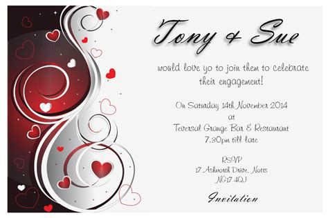 free engagement invitation templates engagement invitation idea invitation templates