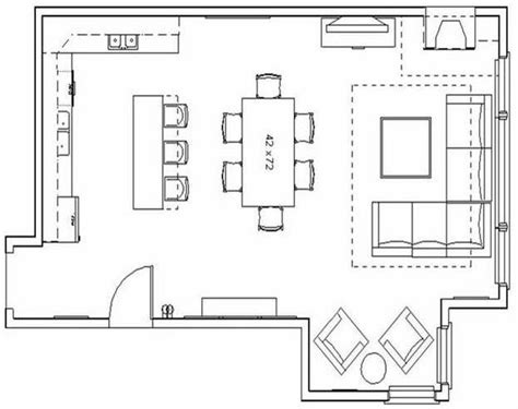kitchen and living room floor plans the awesome in addition to attractive great room kitchen