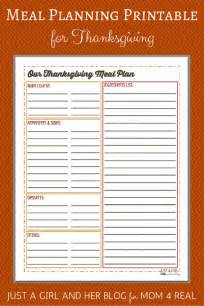 thanksgiving menu planner template thanksgiving menu meal planning free printable 4 real