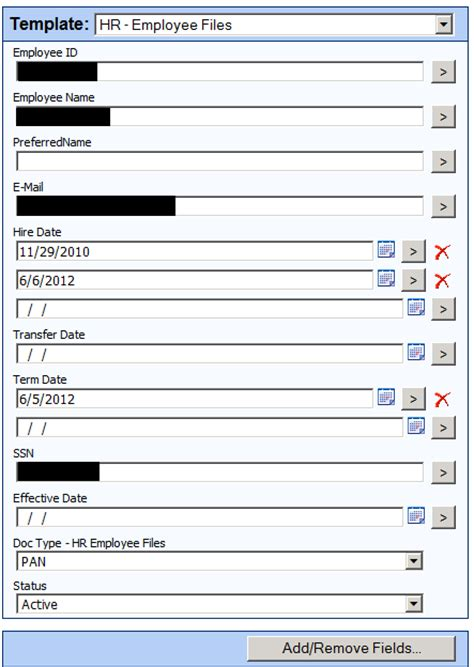 Paperless Human Resources Iowa Tribe Of Oklahoma Employee Personnel File Template