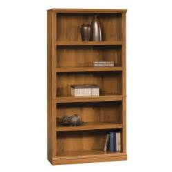 Bookshelf Trim Shop Sauder Abbey Oak 5 Shelf Bookcase At Lowes Com