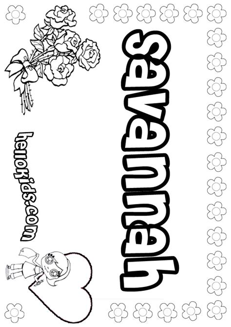 Savannah Coloring Pages Hellokids Com Name Colouring Pages