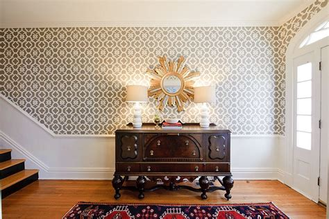 entryway wallpaper 25 gorgeous entryways clad in wallpaper