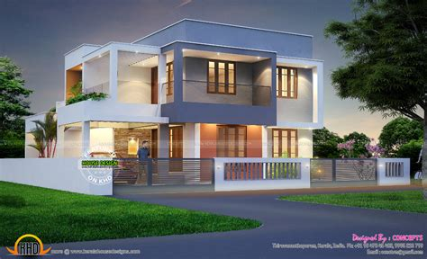 4 bhk contemporary style home 195 square meter kerala home design and floor plans 4 bhk house with plan kerala home design and floor plans
