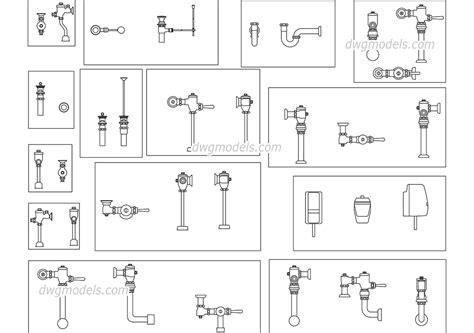 plumbing equipment dwg free cad blocks