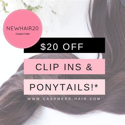 cashmere hair extension coupon promo code 20 off coupon code cashmere hair clip in extensions