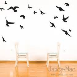 Flying Birds Wall Stickers bird wall decal flying birds vinyl wall art room by janeymacwalls