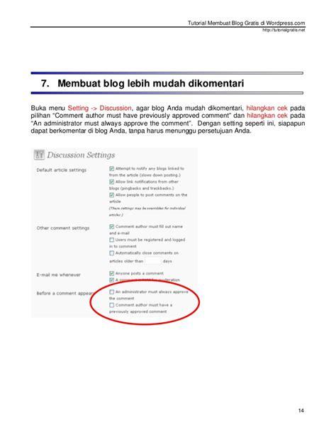 tutorial membuat blog gratis tutorial membuat blog gratis di wordpress com baru