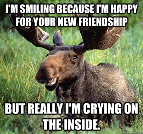 Canadian Moose Meme - sad canadian moose memes quickmeme