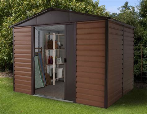 10 Ft Wide Shed 10ft By 8ft Metal Garden Shed 108wgl By Yardmaster Gardenbox