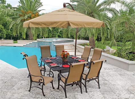 patio furniture umbrella choosing the best outdoor patio set with umbrella for your