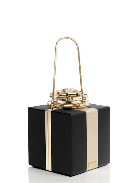 Kate Spade Katy Katherine Clutch by Kate Spade New York Square Gift Box Clutch In Black Lyst